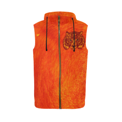 Savety Tiger All Over Print Sleeveless Zip Up Hoodie for Men (Model H16)