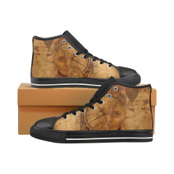 A Time Travel Of STEAMPUNK 1 Men's Classic High Top Canvas Shoes /Large Size (Model 017)