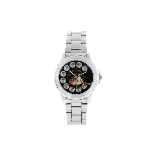 Please Wait for the Dial Tone 4 Unisex Stainless Steel Watch(Model 103)