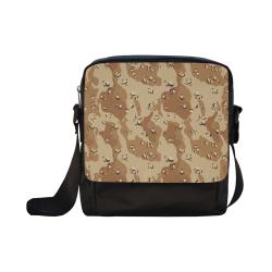 Vintage Desert Brown Camouflage Crossbody Nylon Bags (Model 1633)