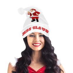 MRS CLAUS White/Red Santa Hat