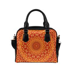 Love and Romance Golden Bohemian Hearts Shoulder Handbag (Model 1634)