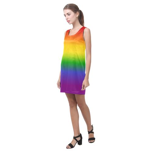 LGBTQ Rainbow Pride Helen Sleeveless Dress (Model D10)