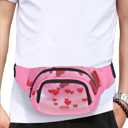 lovely romantic sky heart pattern for valentines day, mothers day, birthday, marriage Fanny Pack/Small (Model 1677)