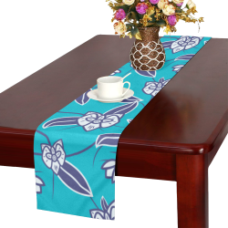White orchids Table Runner 16x72 inch