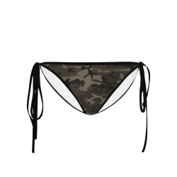 Camo Grey Custom Bikini Swimsuit Bottom