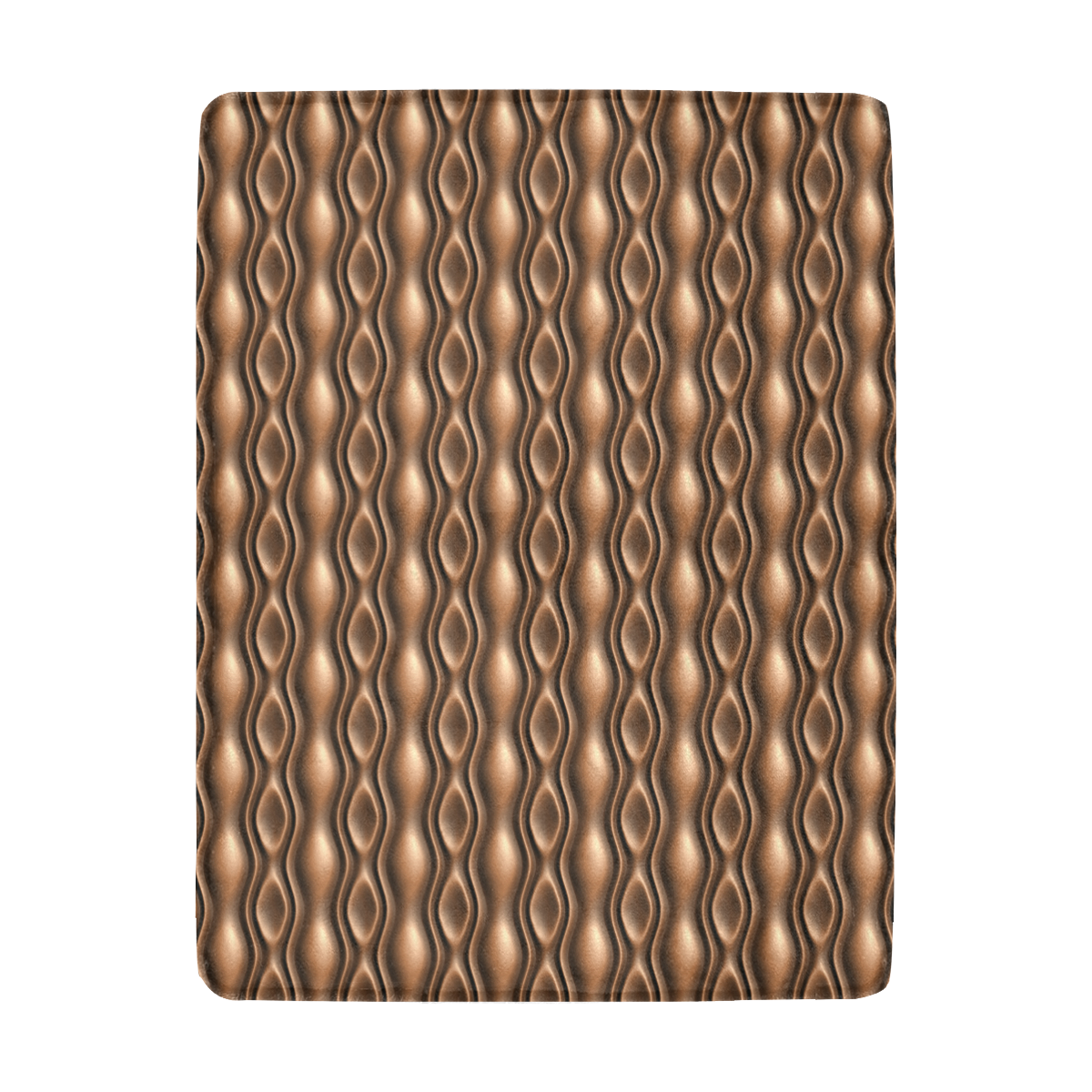 Brown leather abstract wave Ultra-Soft Micro Fleece Blanket 43''x56''