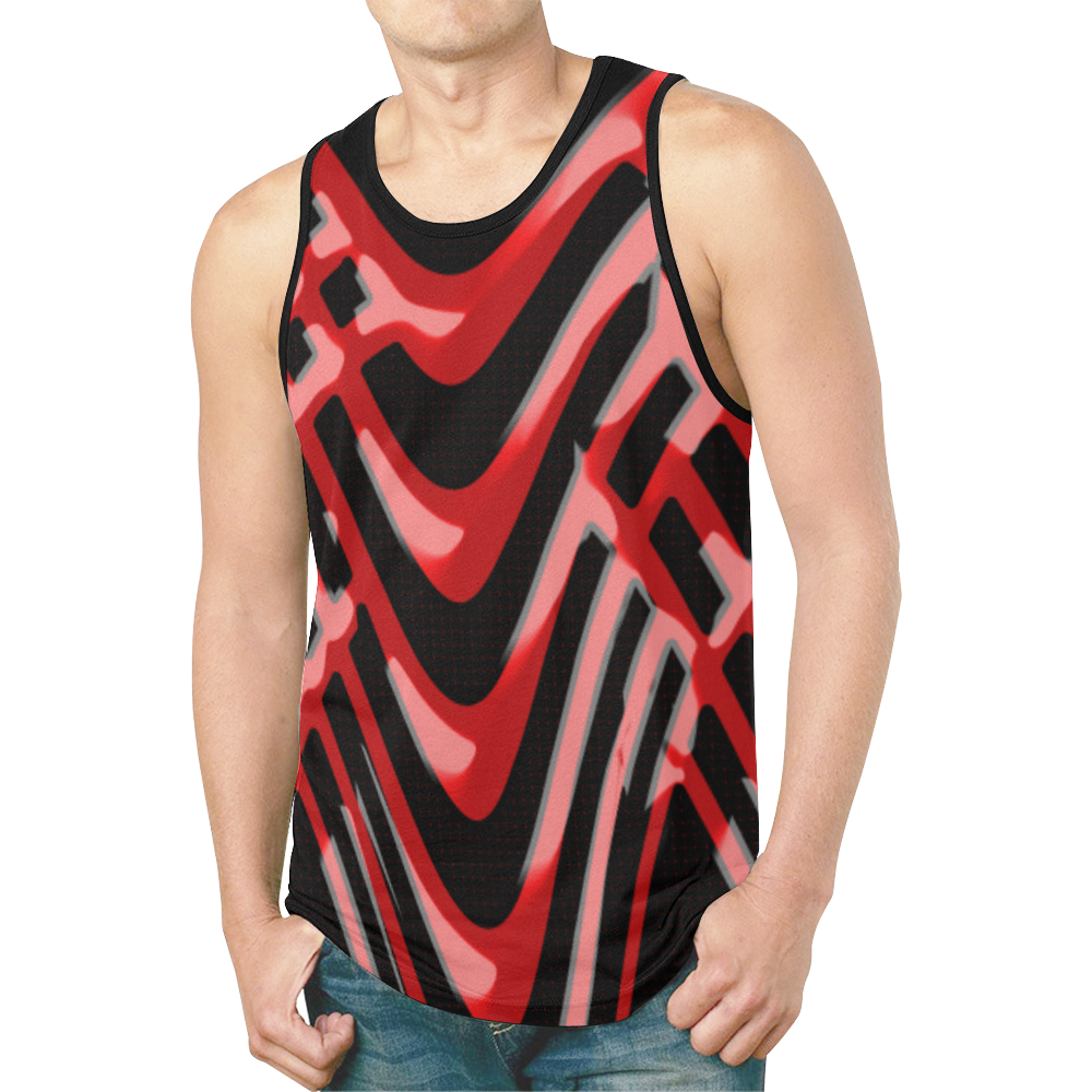 abstract_5500_2019_RBW_141h New All Over Print Tank Top for Men (Model T46)