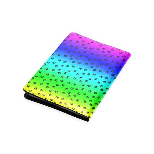 rainbow with black paws Custom NoteBook A5