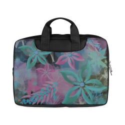 "Flower Pattern - black, teal green, purple, pink Macbook Air 13""(Twin sides)"