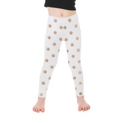 Polka Dots Kid's Ankle Length Leggings (Model L06)