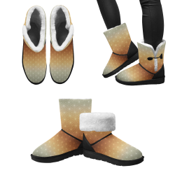 03 FALL Unisex Single Button Snow Boots (Model 051)