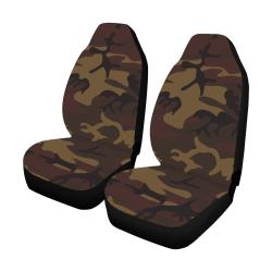 Camo Dark Brown Car Seat Covers (Set of 2)