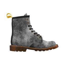 Black Grunge High Grade PU Leather Martin Boots For Men Model 402H