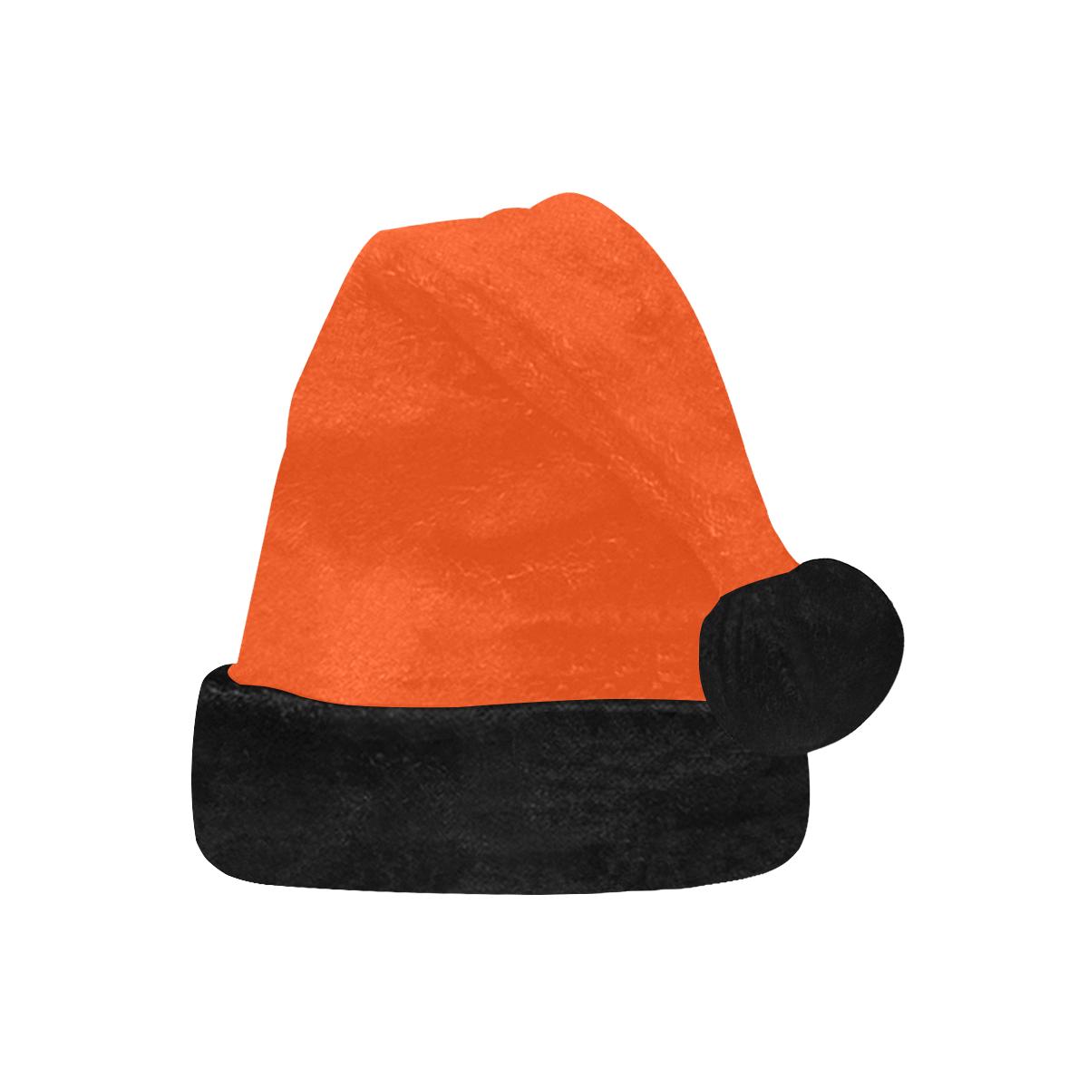 Team Colors Orange and Black Santa Hat