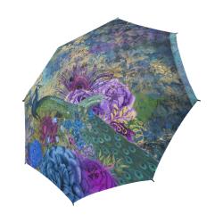 Fairlings Delight's Parasol Collection- Peacock Altered Art 53086a2 Semi-Automatic Foldable Umbrella (Model U05)