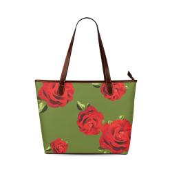 Fairlings Delight's Floral Luxury Collection- Red Rose Handbag 53086h1a17 Shoulder Tote Bag (Model 1646)