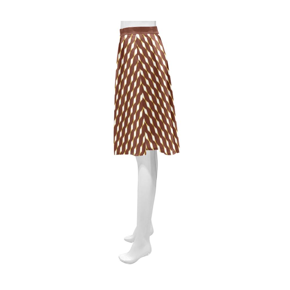 African Cream Diamond Athena Women's Short Skirt (Model D15)