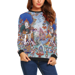 Four Heavenly Kings, by Ivan Venerucci Italian Style All Over Print Crewneck Sweatshirt for Women (Model H18)