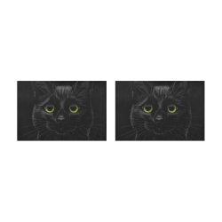 Black Cat Placemat 12'' x 18'' (Two Pieces)