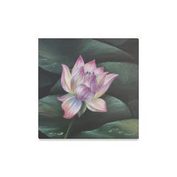 """Hawaiian Lotus Canvas Print 16""""x16"""""""