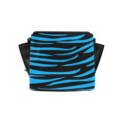 Tiger Stripes Black and Blue Satchel Bag (Model 1635)