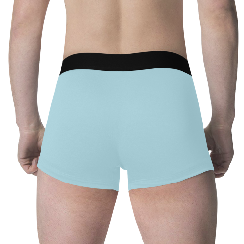 color light blue Men's All Over Print Boxer Briefs (Model L34)