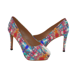 pop-graffiti-4-17 Women's High Heels (Model 044)