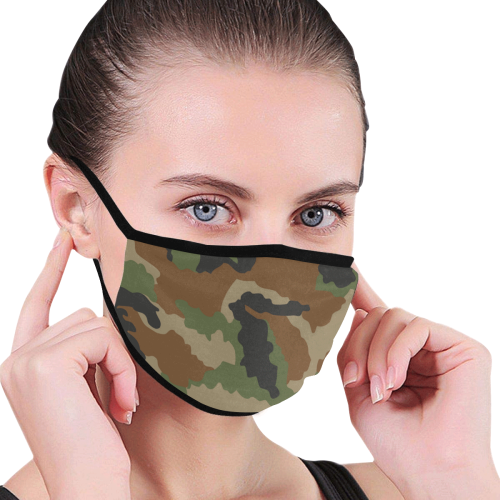Army Camo Mouth Mask (Pack of 3)
