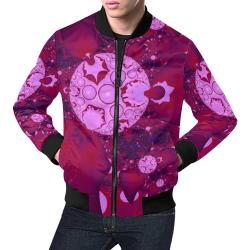 Planetary Bubble Gum All Over Print Bomber Jacket for Men (Model H19)