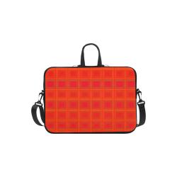"""Red orange multicolored multiple squares Laptop Handbags 11"""""""