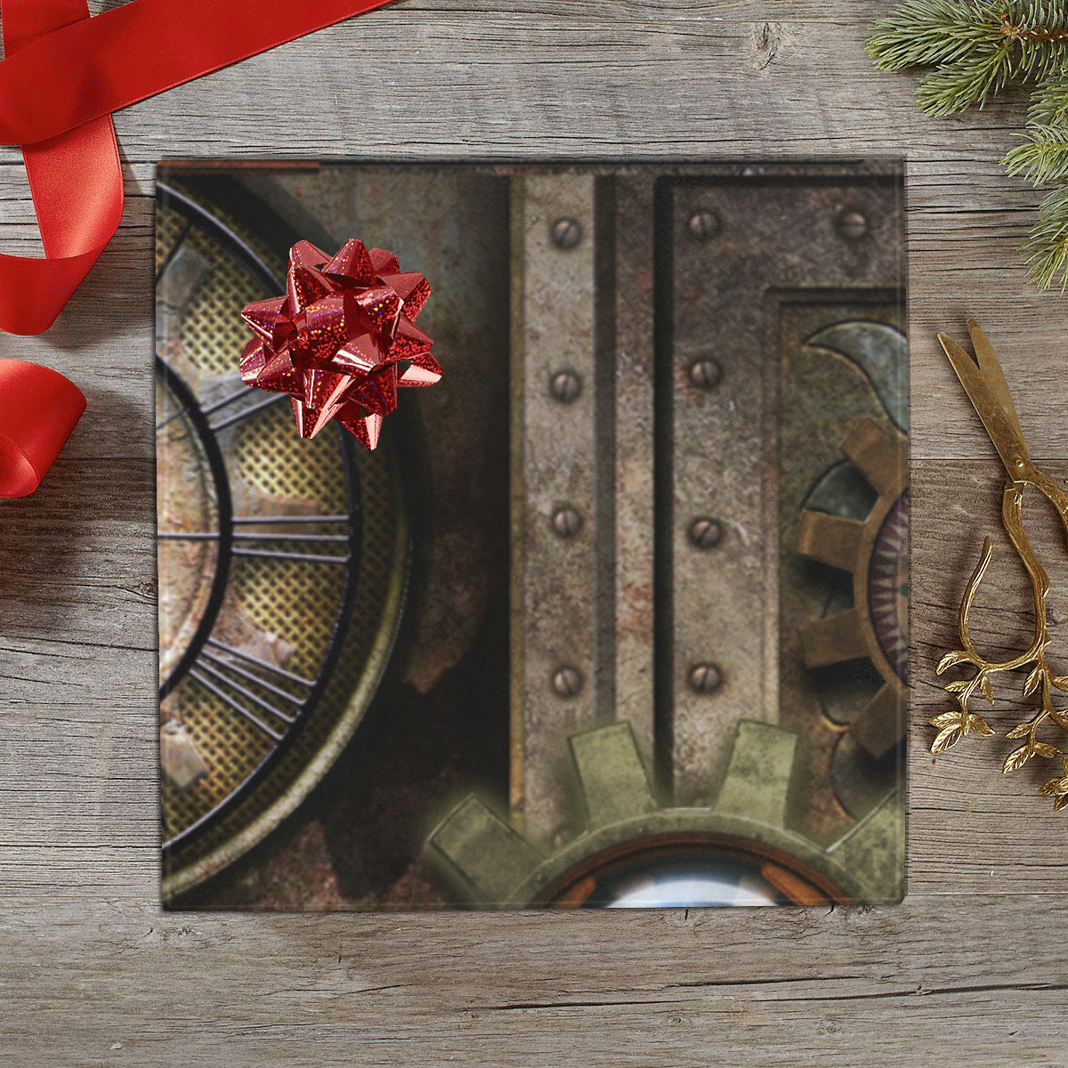 """Wonderful steampunk design Gift Wrapping Paper 58""""x 23"""" (2 Rolls)"""