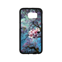 Cherry blossomL Rubber Case for Samsung Galaxy S6