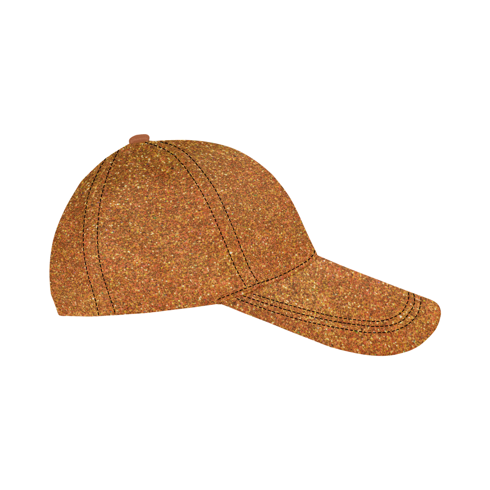 Sparkly Gold Glitter All Over Print Dad Cap C (7-Pieces Customization)