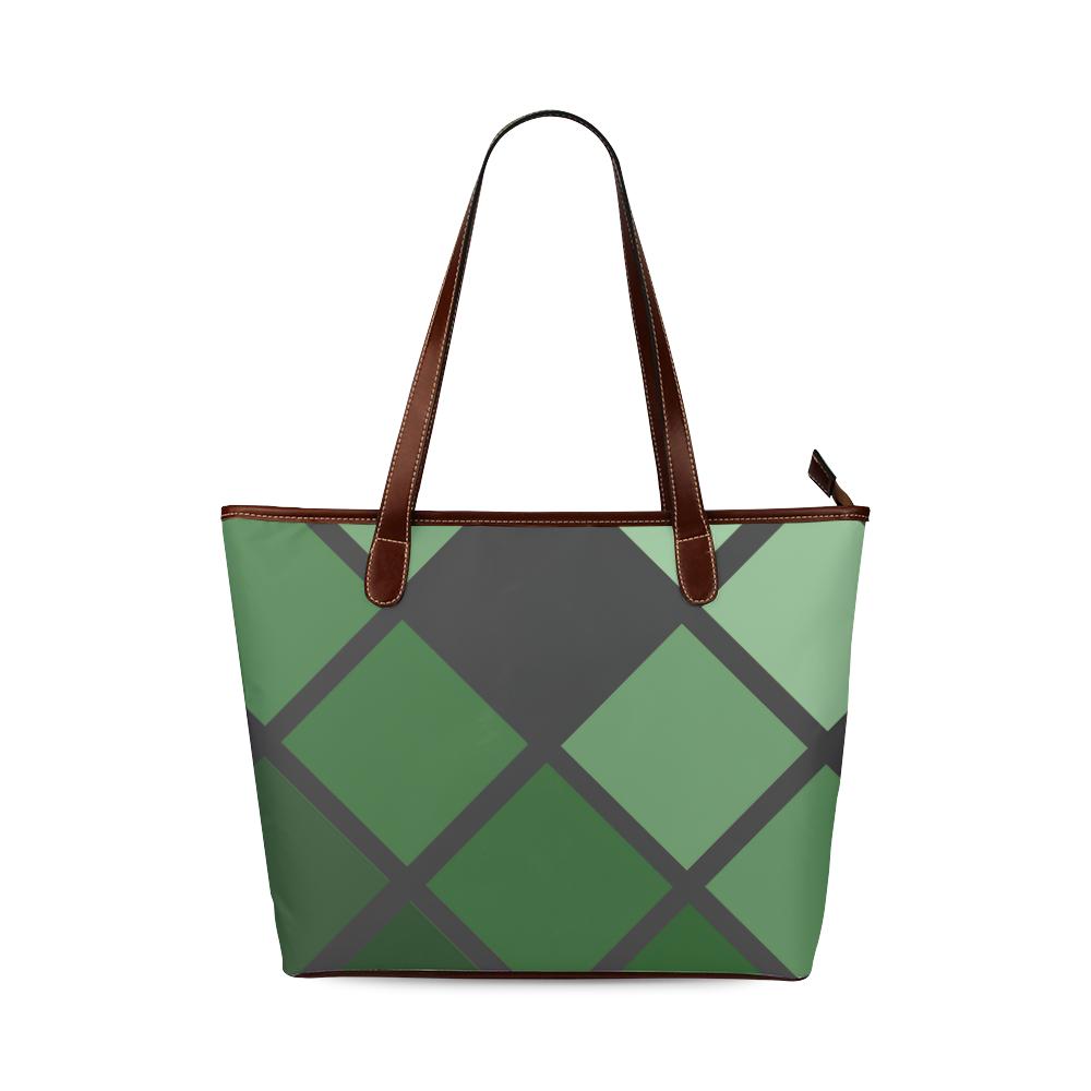 green Shoulder Tote Bag (Model 1646)