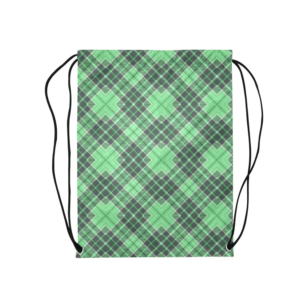 "STRIPES LIGHT GREEN Medium Drawstring Bag Model 1604 (Twin Sides) 13.8""(W) * 18.1""(H)"