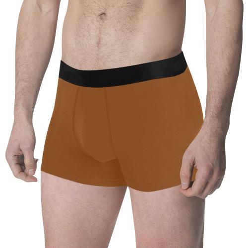 color saddle brown Men's All Over Print Boxer Briefs (Model L34)