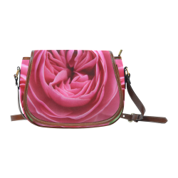 Rose Fleur Macro Saddle Bag/Large (Model 1649)