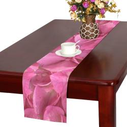 Dark Pink Flowers Table Runner 14x72 inch