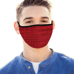 WEAR A MASK RED Mouth Mask
