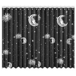"Mystic Stars, Moon and Sun Window Curtain 50""x84""(Two Piece)"