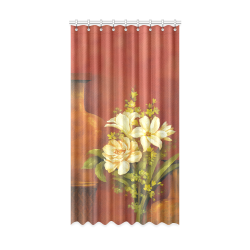"""White Roses Window Curtain 52"""" x96""""(One Piece)"""