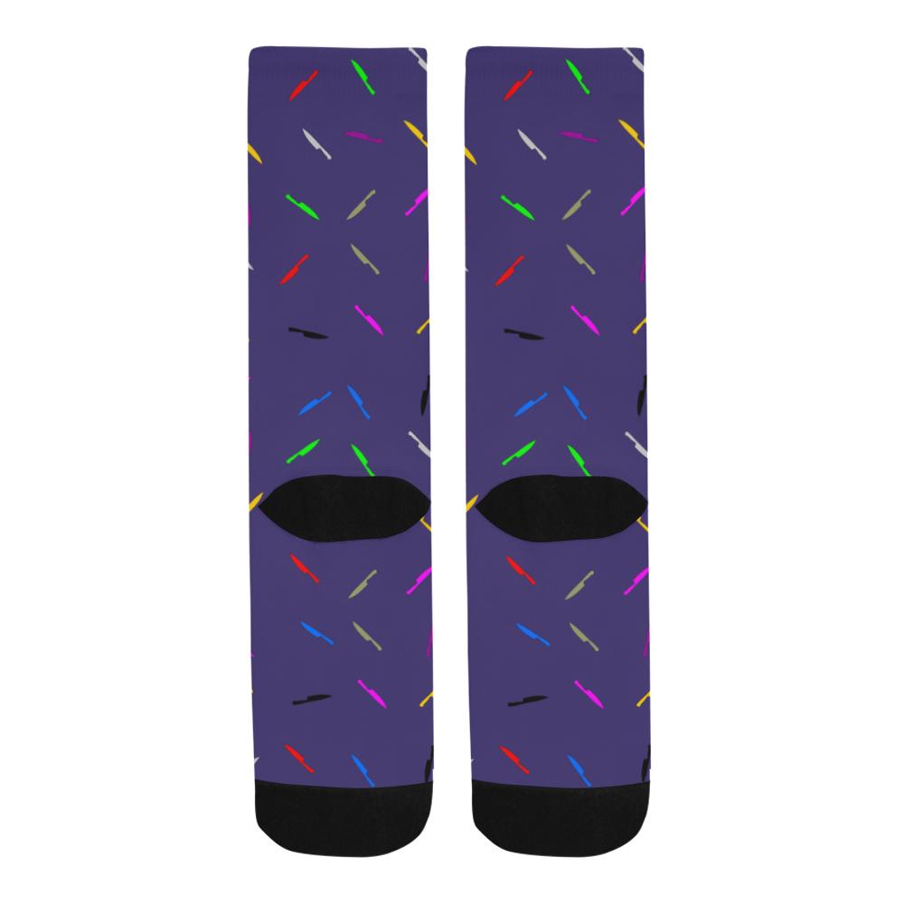 knife blue Trouser Socks
