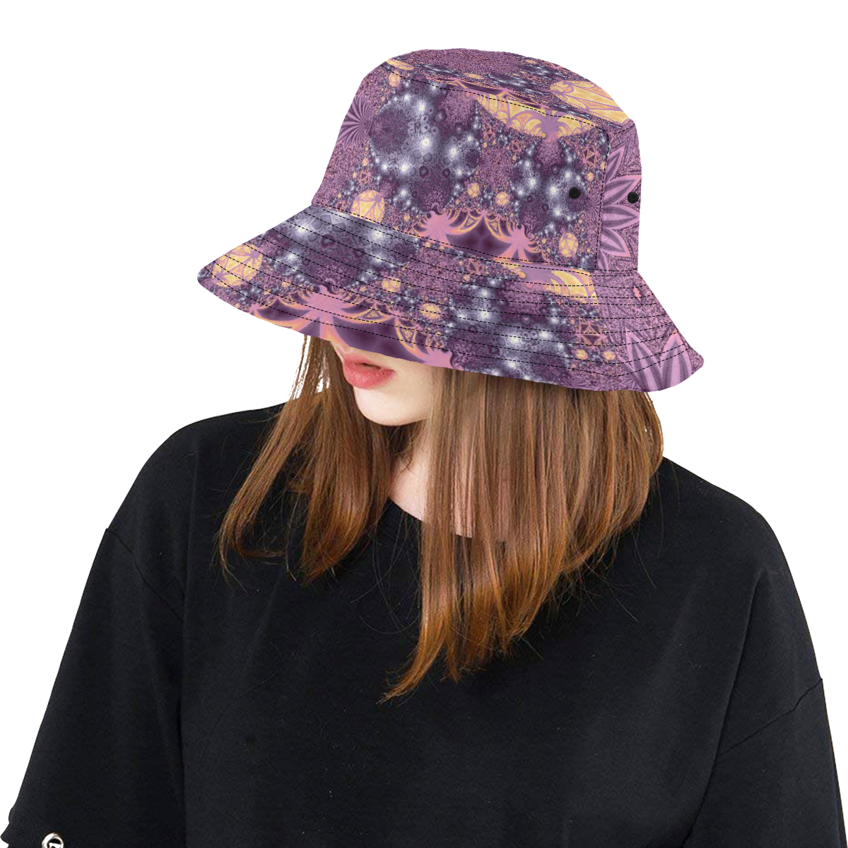 Soft Colourful Tropics All Over Print Bucket Hat