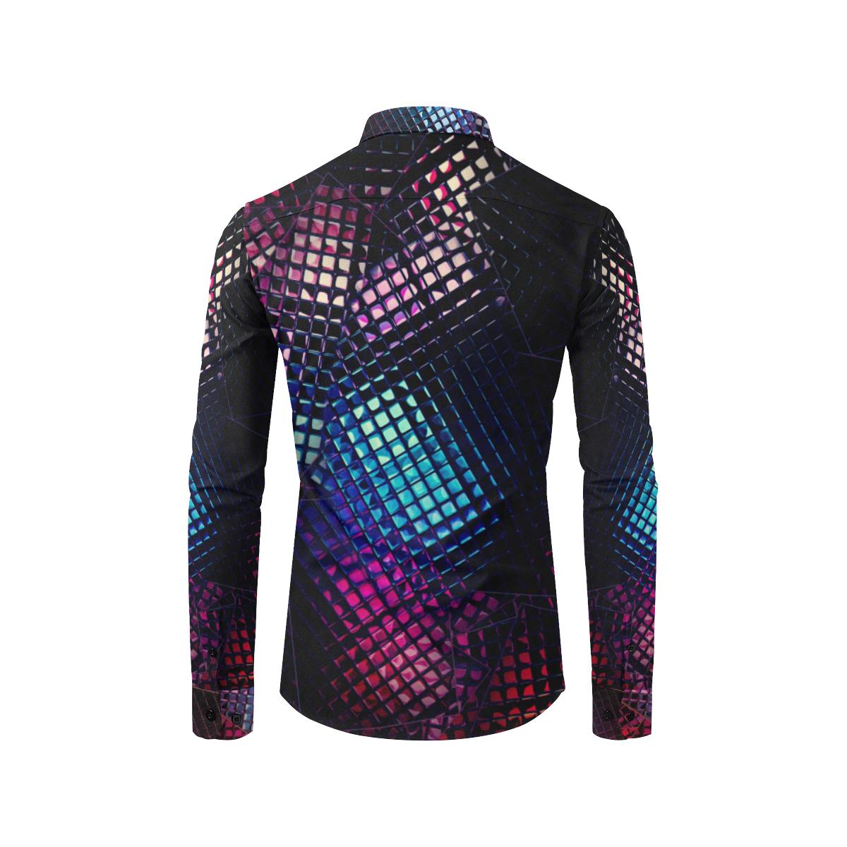 Dark Light by Artdream Men's All Over Print Casual Dress Shirt (Model T61)