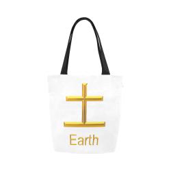 b-Golden Asian Symbol for Earth Canvas Tote Bag (Model 1657)