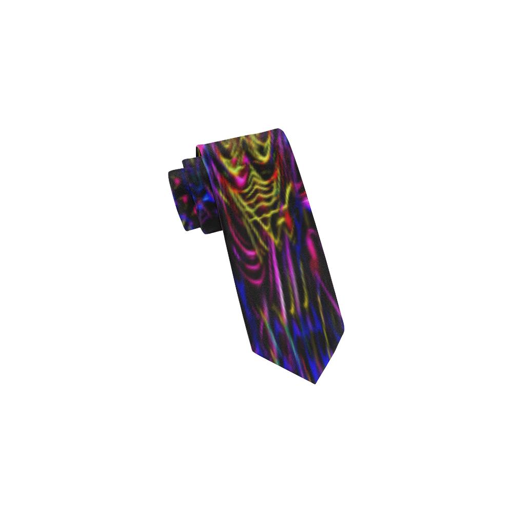 13x19 blank-clock tie Classic Necktie (Two Sides)