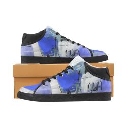 Lua blue Men's Chukka Canvas Shoes (Model 003)