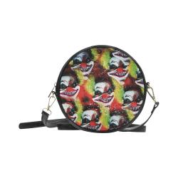 scary halloween Horror clowns Round Sling Bag (Model 1647)