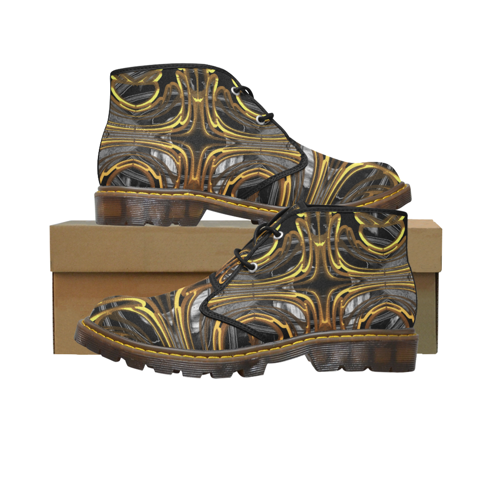 Golden Flower Crew Unit Women's Canvas Chukka Boots/Large Size (Model 2402-1)